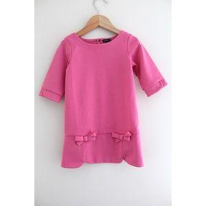 • GAP TODDLER GIRLS PINK SCALLOPED DRESS SZ 3 •